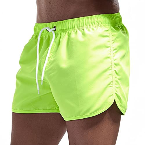 GFDRT Herren Fitness Beach Shorts Sommer Gym Übung Männer und Frauen Atmungsaktive Sportbekleidung Joggen kurz(grün,m)