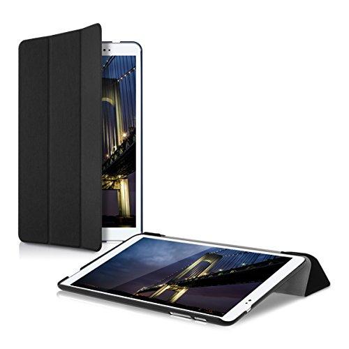 kwmobile Hülle kompatibel mit Huawei MediaPad T1 10 - Smart Cover Tablet Hülle Schutzhülle - Stand - in Schwarz