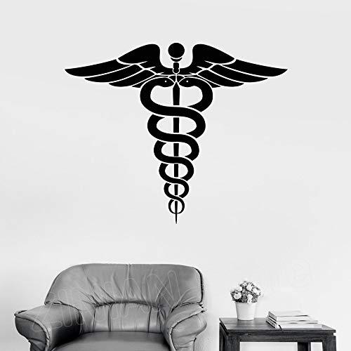 zqyjhkou Vinilo Tatuajes de Pared Medicina Farmacia Cuidado de la Salud Calcomanías de Arte Antigua Grecia Símbolo Pegatinas Decoración del hogar Wallpaper D034 64x56 cm