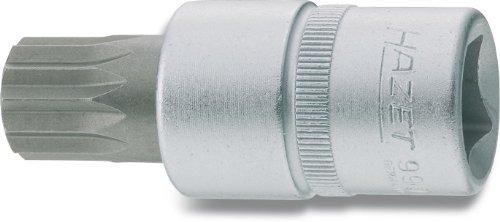 Hazet 990-14 Schraubendreher-Einsatz, s: 14, Innenvierkant 12,5 mm (1/2 Zoll), Innen Vielzahn XZN