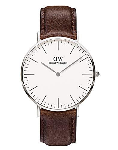 Daniel Wellington 0209DW - Reloj con correa de acero para hombre, color blanco / gris