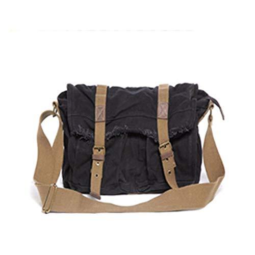 Messenger-stijl herenmode schoudertas met diagonaal schouder, modieus impost, voor mannen en school, zeildoek, schoudertas voor school en studenten