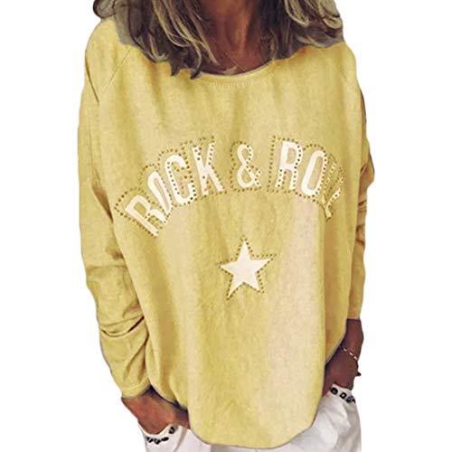 Camiseta otoño mujer 2019 verano tallas grandes moda Impresión de Es