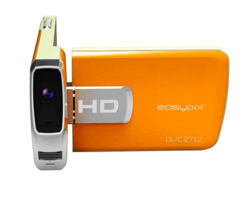 Easypix DVC2712-O Cruiser Camcorder (6,9 cm (2,7 Zoll) LCD-Display, 5 Megapixel, 8-fach dig. Zoom, micro-SD Kartenslot, HDMI, USB 2.0) orange