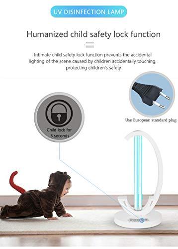 lampada ozono sterilizzatore 38W, lampada ozono uv, lampada uv Uccide 99.9% di Batteri Virus e Agenti Patogeni, 60 mq germicida ozono Temporizzazione a Tre velocità + Avvio Ritardato di 30 Secondi