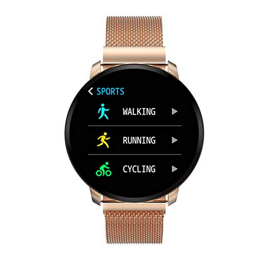 Fitness Horloge voor Android & iOS telefoons, 1.3inch IPS HD Touch Screen met Optical Heart Rate Sensor, N98 Full-Screen IP67 Waterdichte smartwatch voor Vrouwen Mannen Kinderen(Goud)
