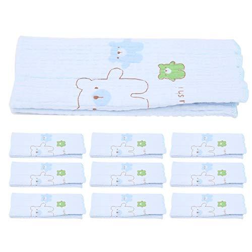 Asixxsix Circunferencia Abdominal de algodón, Conveniente Circunferencia Abdominal elástica Suave de tamaño pequeño para bebés, para bebés(Blue)
