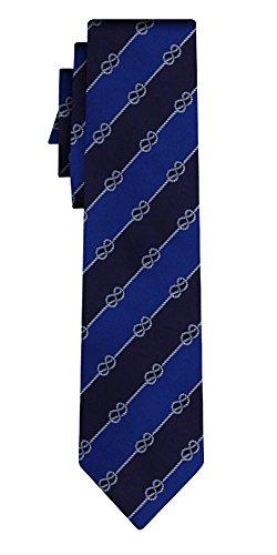 Générique cravate knots pattern blue navy