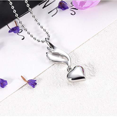 N / D 316L Pulsera de corazón encantos Colgante de urna de cremación de Acero Inoxidable Pulsera de Bricolaje Brazalete encantos de urna Collar de Mujer