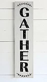 Gather Wood Plank Wall Decor - Vertical gather sign - gather wood sign vertical 25inch
