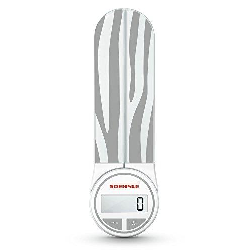 Soehnle Genio Striped Digital Kitchen Scale, Gray