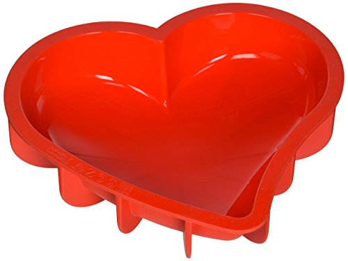 Silikomart 20.211.01.0068 SFT211 Moule Forme Coeur Silicone Rouge