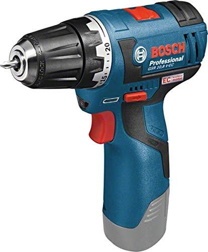 Bosch Professional GSR 12 V-20 06019A4003 Accu-schroefboormachine, zonder accu, zonder oplader, Click&Go, Solo-versie, L-BOXX