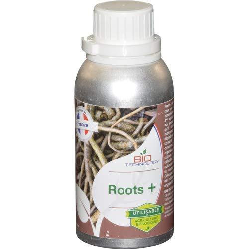 Bio Technology | Fertilizante y Estimulador Orgánico de Raíces | Desarrollo de Raíces | Crecimiento de Raíces | Mejora el Rendimiento Roots + - 250 ML