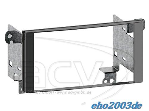 2DIN kit di installazione autoradio mascherina Radio Cavo di collegamento antenna Adapter Set completo per Subaru Forester SJ XV G4AB 2012laccato, colore Nero