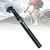 Tija Sillín Bicicleta, Tija Sillín con Suspensión Bicicleta, Tija Sillín Aleación Aluminio para Bicicleta con ángulo Sujeción Ajustable Tija Sillín para MTB Road Bike BMX (30.4mm)