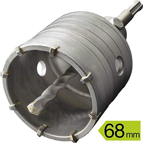 GRAFF Hohl-Bohrkrone 68mm, Set mit SDS Plus Adapter 110mm und Zentrierbohrer 8x110mm, Lochsägen Bohrer für Steckdose, Mauerwerk und Beton, Hammerschlagfest, Dosenbohrer, Bohrkrone für Bohrhammer
