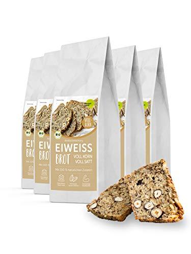 Pumperlgsund Eiweiß Brot Brotbackmischung | Viel Protein, weniger Kohlenhydrate | Ohne Mehl | Protein-Brot (Vollkorn, 12er Paket)