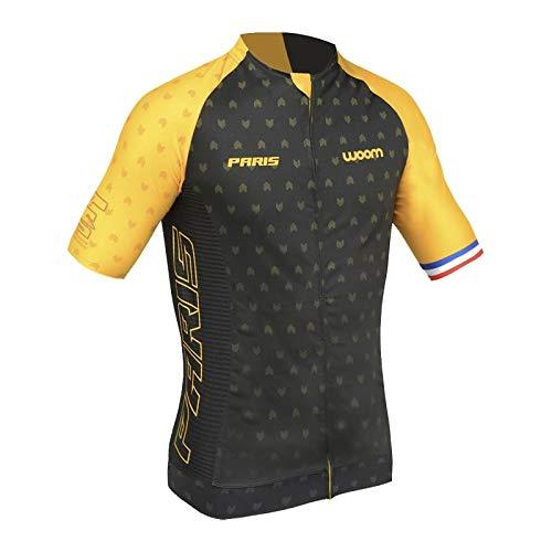 Camisa De Ciclismo Woom Supreme Paris Masculina Coleção 2020 Tamanho:G;Cor:Amarelo