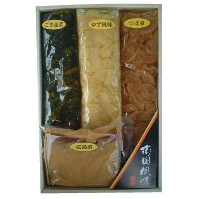 南国風味 12号×2箱 ふじさき漬物舗 鹿児島産 漬物4種4品詰め合わせ 570g