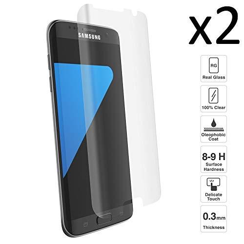 iGlobalmarket [2 Unidades] Protector de Pantalla 3D Samsung Galaxy S7 Edge, Vidrio Templado, Sin Burbujas, Pantalla Completa, 9H Dureza, Resistente a Arañazos