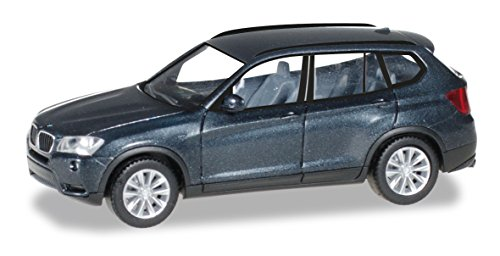 herpa 034630-003 BMW X3 Fahrzeug, saphirschwarz metallic/Saphir Black metallic