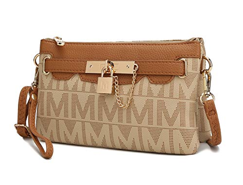 """Get Ready for Compliments on Your """"Roxanne"""" Designer Bag! From MKF Collection by Mia K. a fashionable bag for women that's also highly functional. Small bag yet big impact with rich gold tone hardware, """"M"""" signature, and a cute padlock. SIZE & POCKET..."""
