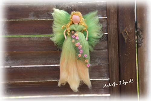 Große Filzfigur Blumenfee Waldorf*gefilzt*Filzfee*
