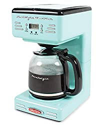 aqua coffee maker | turquoise drip coffee maker | retro and nostalgic