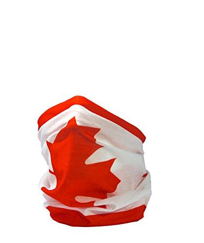 Ruffnek Flagge von Kanada / Kanadische Flagge/Ahornblatt/L'Unifolié Multifunktionale Kopfbedeckung/Halswärmer für Männer, Damen & Kinder