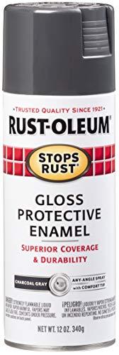 Rust-Oleum 7784830 Stops Rust Spray Paint, 12-Ounce, Gloss Charcoal Gray