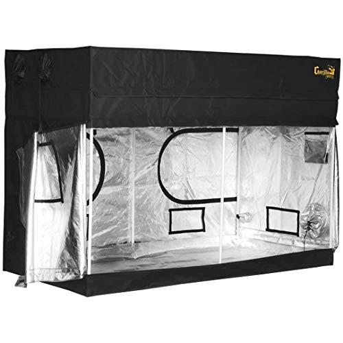 Gorilla Grow Tent Lite Line   Complete 8-Foot by 8-Foot Reflective Hydroponic Grow Tent for Growing Indoor Plants   Steel Interlocking Poles, Windows, Floor Tray