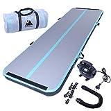 EVOLAND Air Track Tumbling Mat Air Track Ginnastica Artistica per Uso Domestico/Allenamento/Cheerleading/Yoga/Acqua con Pomp