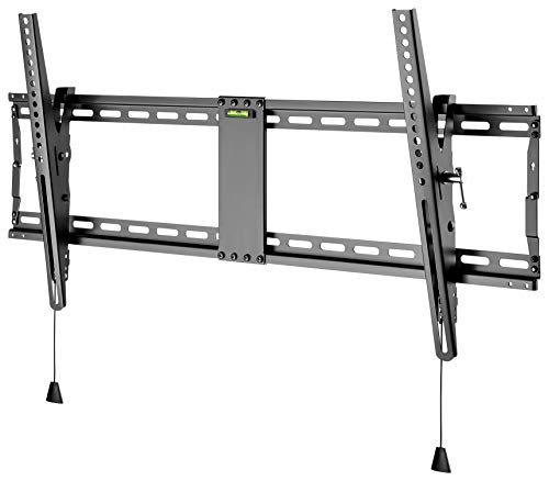 goobay 49930 Soporte de Pared para TV Pro Tilt (XL) 43 a 100 Pulgadas (109 - 254 cm) 70 kg, inclinable, Desplazamiento Lateral, Negro