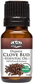 1 fl. Oz / 30 ml Organic Clove Bud Essential Oil, USDA Certified Organic Clove Oil, 100% Pure & Natural Clove Essential Oil, Therapeutic Grade Clove Essential Oil, Organic Syzygium Aromaticum Oil
