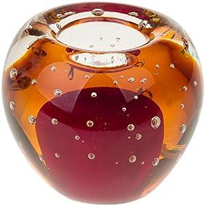 Portavelas de cristal candelero vidrio estilo antiguo murano 9cm (c)