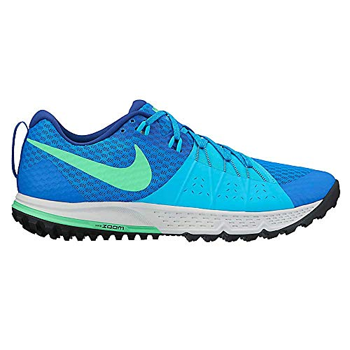 Nike Men's Air Zoom Wildhorse 4 Soar/Electro Green/Chlorine Blue Trail Running Shoes Size 10.5 D(M) US