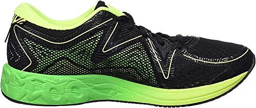 Asics T722n 9085, Zapatillas de Running para Hombre, Negro (Black /         Green Gecko /         Safety Yellow), 43.5 EU