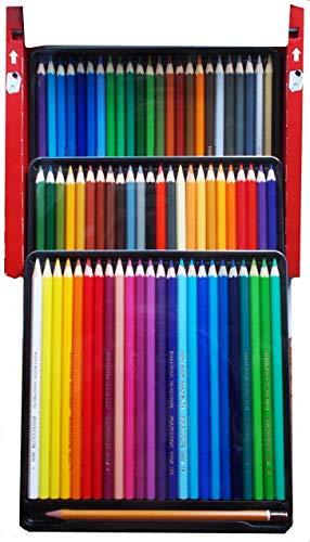 Koh-I-Noor 3837 POLYCOLOR - Künstlerfarbstifte mit Anspitzer und 2 Graphitstiften im Pappetui - Farben sortiert, 72er-Farbset