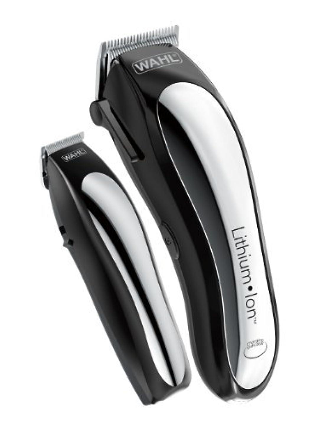 契約した勇敢な辛なWahl Clipper Lithium Ion Cordless Rechargeable Hair Clippers and Trimmers for menHair Cutting Kit with 10 Guide Combs by The Brand used by Professionals. #79600-2101 [並行輸入品]