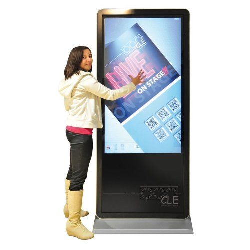 PlentiMedia Staand touch-display 55 inch Mega Smart-Phone Look Touchscreen Monitor Digital Signage