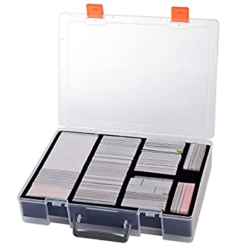 2200+ Card Case Holder - C.A.H / MTG Deck Box Organizer Storage Compatible with Cards Against Humanity/ Magic The Gathering/ Yugioh/ Dominion/ Kids Against Maturity,fits Main Game and All Expansions