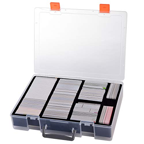 2200+ Card Case Holder - C.A.H/MTG Deck Box Organizer Storage Compatible with Cards Against Humanity/Magic The Gathering/Yugioh/PM Trading Board Game Cards, fits Main Game and All Expansions