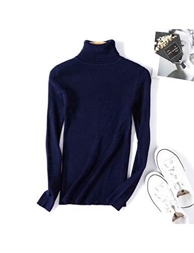 DHRGFWG Winter Herfst Coltrui Zwarte Trui Vrouwen Skinny Elastische Gebreide Zachte Pullover Trui Vrouwelijke Pullovers,