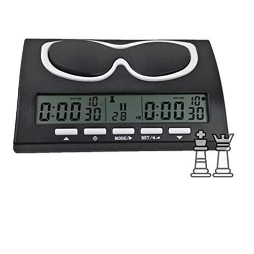 coil-c Temporizador digital de ajedrez | Reloj profesional | Temporizador de cuenta hacia arriba, reloj electrónico de competición, también ideal para otros juegos de mesa competitivos