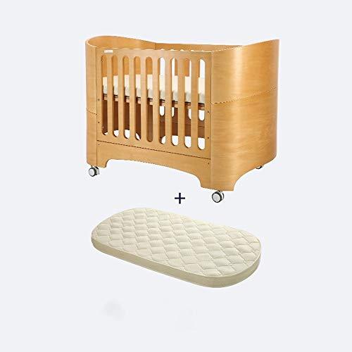 HIZLJJ 4-en-1 Cuna Convertible cabecera Cama Plegable Fácil Cuna portátil con Cuna Kit de conversión, se Convierte fácilmente en Cuna día Cama o sofá Cama, Tres Posiciones de Altura Ajustable colchón