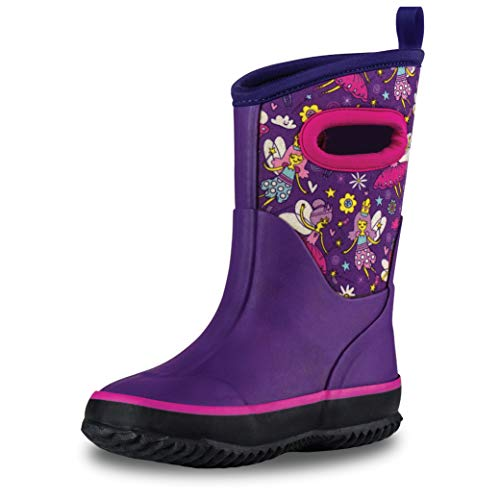 LONECONEInsulatingAll Weather MudBoots for Toddlers and Kids - Warm Neoprene Boots for Snow, Rain, and Muck - Bippity Boppity Fairy Boots, 9 Toddler