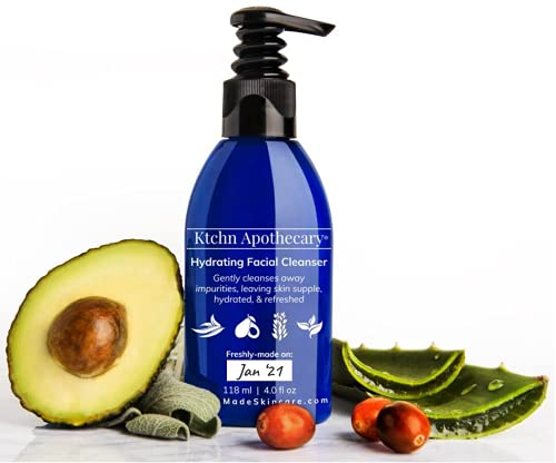 Hydrating Natural Face Wash   Fresh-Made with Natural & Organic Ingredients   Lightly Foaming Facial Cleanser for a Gentle, Non-Drying Deep Clean   Reveal Healthier-Looking, Supple, Refreshed Skin