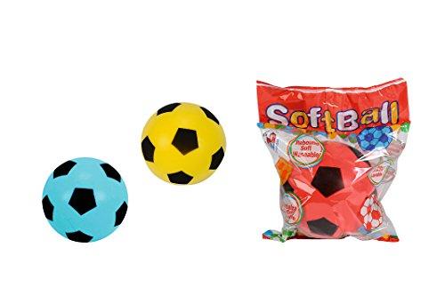 Simba 107350017 - Softball, es wird nur ein Artikel geliefert, blau, rot, gelb, Durchmesser 10cm