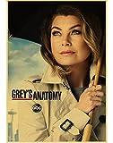 JIUBING Canvas Poster Greys Anatomy Poster Classic Hot Tv